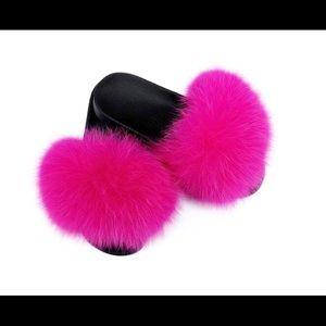 Fox Hot Pink Slides